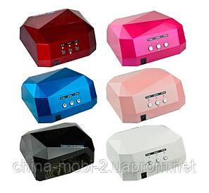 Гібридна Beauty nail UV CCFL+36W LED лампа для манікюру педикюру 12W CCFL + 24W LED