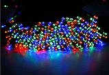 Светодиодная гирлянда на солнечной энергии 22м 200 LED RGB, фото 2