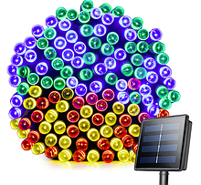 Світлодіодна гірлянда на сонячній енергії 22м 200 LED RGB
