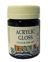 Краска акриловая глянцевая Decola 50мл 810 черная