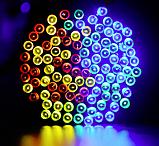 Светодиодная гирлянда на солнечной энергии 22м 200 LED RGB, фото 3