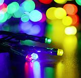Светодиодная гирлянда на солнечной энергии 22м 200 LED RGB, фото 4