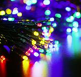 Светодиодная гирлянда на солнечной энергии 22м 200 LED RGB, фото 5