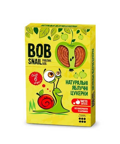 Натуральные яблочные конфеты Bob Snail Равлик Боб, 60 г