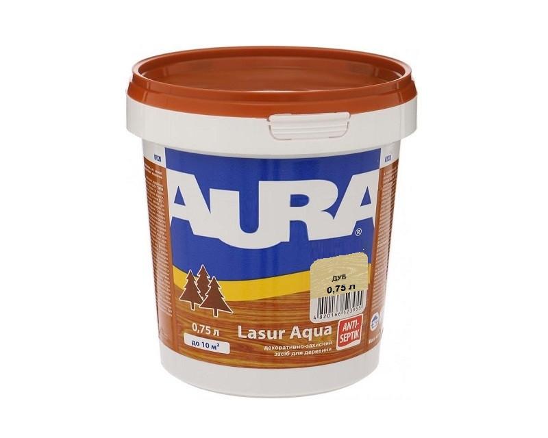 Лазурь-лак акриловый AURA LASUR AQUA для древесины цвета дуба  0,75л