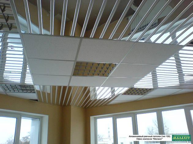 Реечный потолок ( Зеркало-С1 + Белый 9003), фото 2