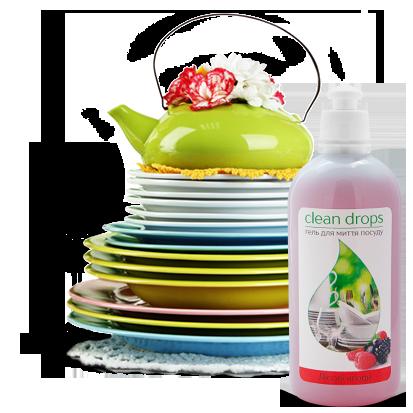 Гель для мытья посуды Clean Drops