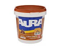 Лазурь-лак акриловый AURA LASUR AQUA для древесины цвета тик 0,75л