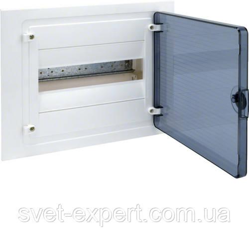 Щит в/у з  прозорими дверцятами, 12 мод. (1х12), GOLF Хагер