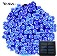 Світлодіодна гірлянда на сонячній енергії 22м 200 LED синій