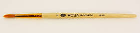 Кисть Синтетика круглая №4 с деревянной короткой ручкой, 1310, Rosa