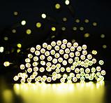 Светодиодная гирлянда на солнечной энергии 22м 200 LED желтый, фото 2