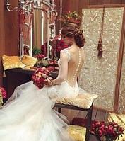 Свадебные платья расшитые жемчугом