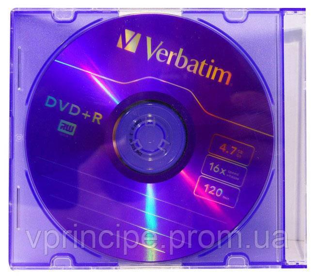 """Диск dvd r """"Verbatim"""" 4.7 Gb Slim - Все в Принципе канцтовары в Киеве"""
