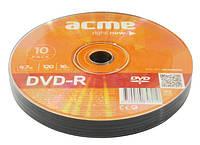 Диск dvd-R Acme 4.7Gb б/кор.10шт