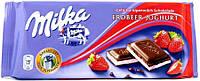 Шоколад MILKA Erdbeer strawberry  100г Клубничный