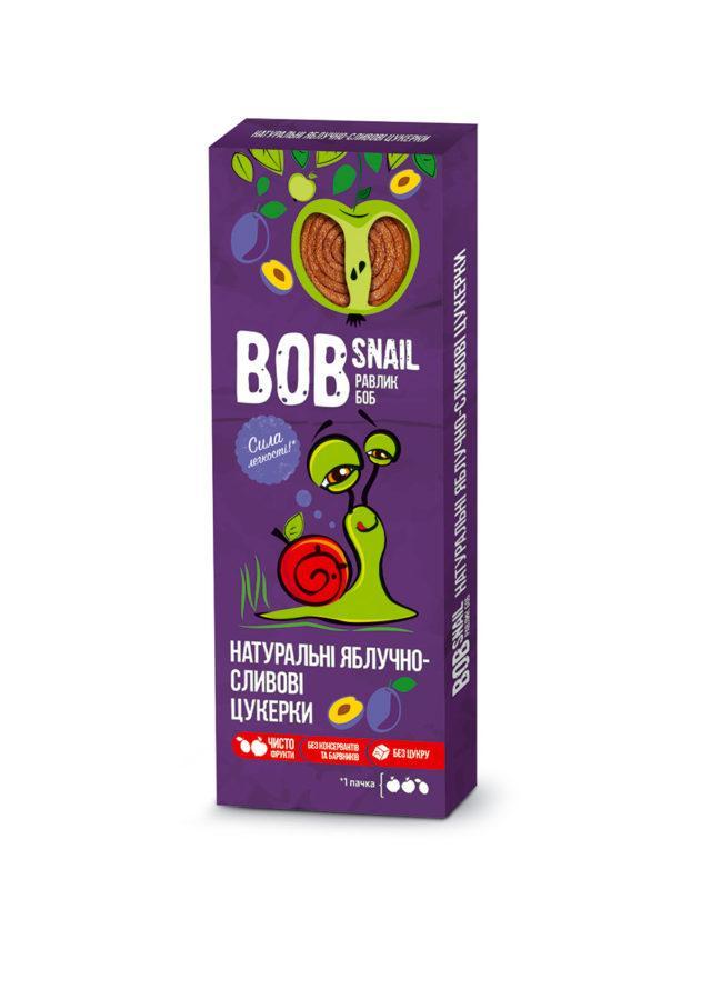 Натуральные яблочно-сливовые конфеты Bob Snail Равлик Боб, 30 г