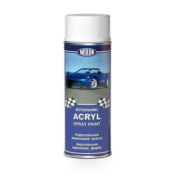 Акриловая краска в баллончике Mixon Spray Acryl. Белая газ