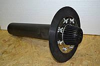 Воронка переливная DN110,600мм с листоуловителем, с прижимным фланцем из нерж.стали