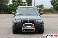 Кенгурятник BMW X3 E-83 2003-2010 гг (QT006 нерж.) Ø60