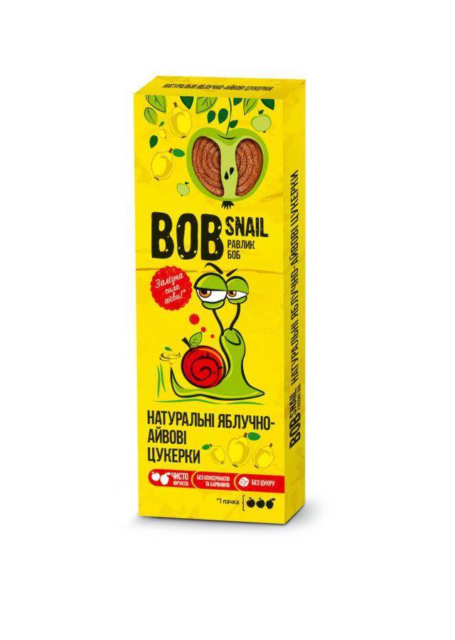 Натуральные яблочно-айвовые конфеты Bob Snail Равлик Боб, 30 г