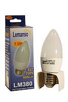Лампа led  7.5Вт 4500K E27 C37 230В 6000Lm Lemanso LM380