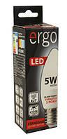 Лампа led 5Вт 4100K E27 С37 220В 460Lm Ergo