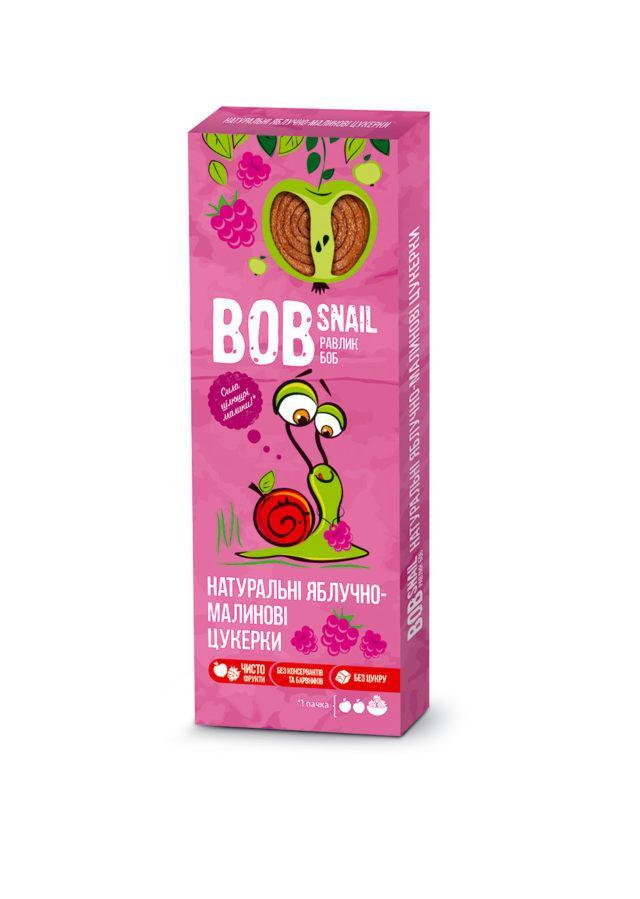 Натуральные яблочно-малиновые конфеты Bob Snail Равлик Боб, 30 г