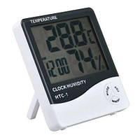 HTC-1 термометр, гигрометр (влагомер), часы, метеостанция, фото 1