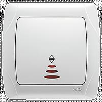 Выключатель проходной с подсветкой белый ViKO Carmen 90561063
