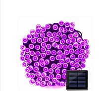 Світлодіодна гірлянда на сонячній енергії 22м 200 LED фіолетовий