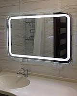 Зеркало влагостойкое 750 х 600 с ЛЕД подсветкой и выключателем