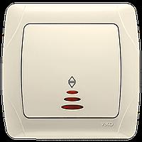 Выключатель проходной с подсветкой крем ViKO Carmen 90562063