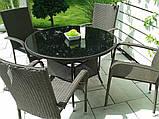 Меблі з ротангу LUIZA. Стіл 105 см + 4 крісла, фото 2