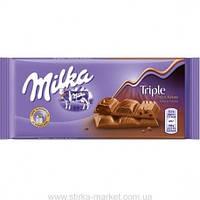 Шоколад MILKA Triple Choco Kakao 90г Шоколадная трилогия