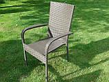 Меблі з ротангу LUIZA. Стіл 105 см + 4 крісла, фото 6