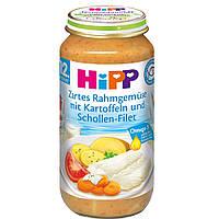 HiPP  Zartes Rahmgemüse mit Kartoffeln... Сливки и овощи с картофелем и Филе камбалы от 12 месяцев 250 г