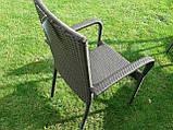 Меблі з ротангу LUIZA. Стіл 105 см + 4 крісла, фото 7