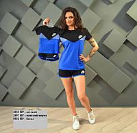 Женский костюм с шортами Найк FAMILY LOOK - Норма 2097 НР Код:536117537