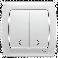 Выключатель 2-кл. проходной белый ViKO Carmen 90561017