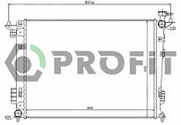 Радиатор охлаждения Hyundai IX35 (1.6, 2.0) 2010-, KIA Sportage (1.6, 2.0) 2010- Profit