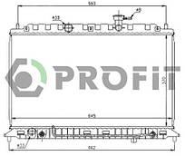 Радиатор охлаждения Kia Rio (1.4, 1.6) 05- Profit