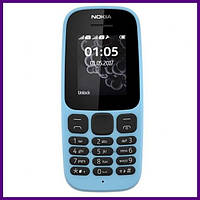 Телефон Nokia 105 SS New BLUE. Гарантия в Украине 1 год!
