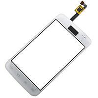 Тачскрин для LG E445 Optimus L4 II Dual Sim, белый, оригинал