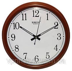 Часы настенные диаметром 345 мм, красного цвета, Rikon