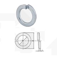 Шайба пружинная оцинкованная (поверхность оцинкование, норма DIN : 127 A, норма PN 82008)