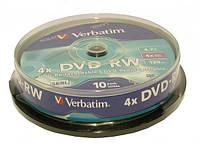 """Диск dvd-rw """"Verbatim"""" 4.7Gb (б/кор.10шт)"""