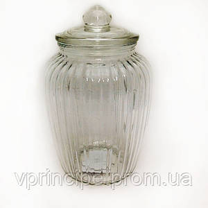 "Декор стекло ""Банка с крышкой"" 23*15см SA-2138-1"