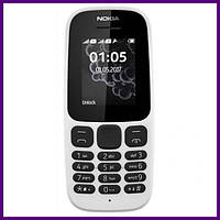 Телефон Nokia 105 SS New WHITE. Гарантия в Украине 1 год!