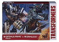 Трансформер Оптимус Прайм + Гримлок Платинум серия - Optimus Prime&Grimlock, Platinum Edition, TF4, Hasbro